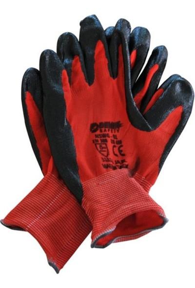 Demir Nswg-01 Eldiven(Kırmızı-Siyah) No:10