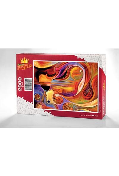 King Of Puzzle Müzik Ahşap Puzzle 2000 Parça (ST52-MM)