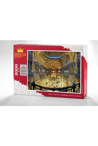 King Of Puzzle Ayasofya Camii - Iç Görünüm Ahşap Puzzle 2000 Parça (SY52-MM)