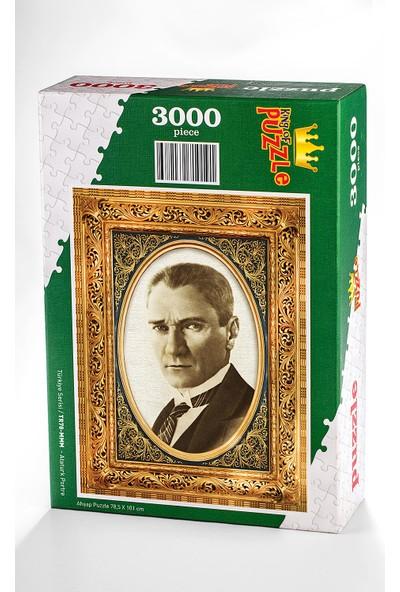King Of Puzzle Atatürk Portre Ahşap Puzzle 3000 Parça (TR78-MMM)