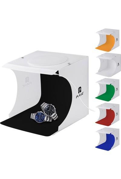 GOB2C Taşınabilir Katlanabilir Mini LED Destek Işıklı Foto Stüdyosu