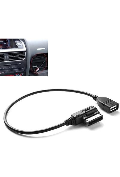 GOB2C Audi VW İçin AMI MMI AUX'dan USB Adaptör Kablosuna Uygun Müzik Arayüzü