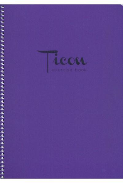 Ticon A4 Defter 60 Yaprak Çizgili Spr.Pp. Kpk Mor