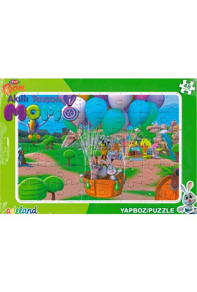 Adeland Trt Çocuk Akıllı Tavşan Momo 48 Parça Yapboz / Puzzle (3+)