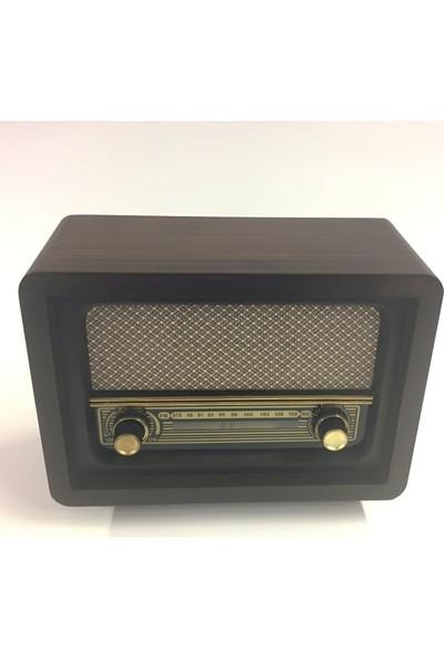 4 Renk Ahşap Nostaljik Radyo