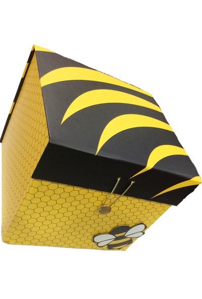 Gıpta Biene Arı Desenli Hediye Kutusu Küçük