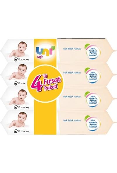 Uni Soft 4'lü Islak Bebek Havlusu Fırsat Paketi