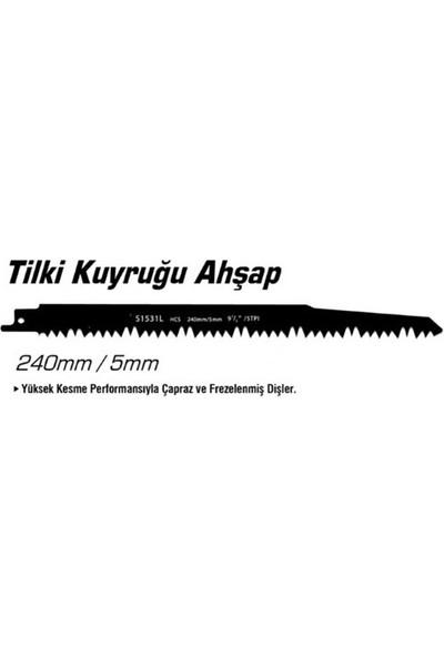 Emka Ağaç Tilki Kuyruğu Ucu Kemik Testeresi Ucu 240 mm