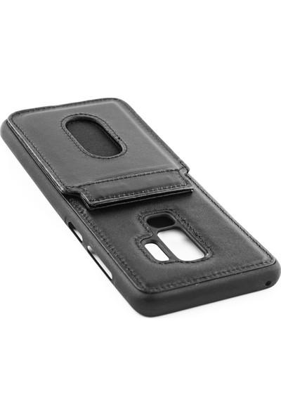 Redpoloshop Samsung Galaxy S9 Plus Kılıf Weoze Hakiki Deri Kartvizitli Cüzdan