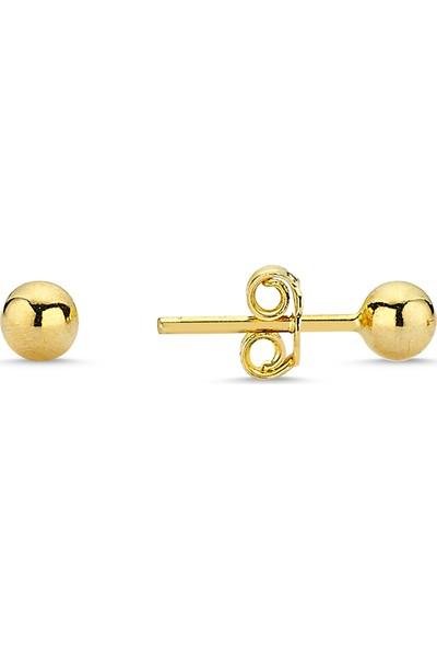 Aypa Mücevher Ag00040Kp-003 Sarı Altın Top Küpe