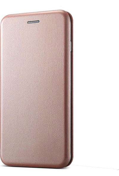 Prolysus Huawei Honor 9 Lite Kılıf Kapaklı Cüzdan Flip Cover Wallet Kılıf Rose Gold