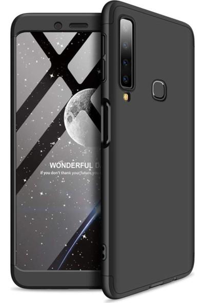 Kılıfreyonum Samsung Galaxy A9 2018 360 Derece Tam Korumalı Kılıf Koruyucu Cam Siyah