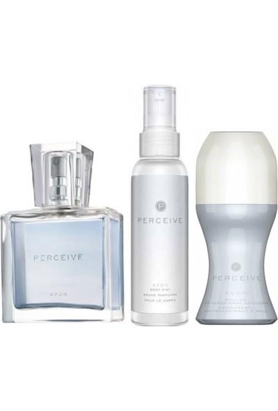 Avon Perceive Kadın Parfüm 30 ml ve Avon Perceive Vücut Spreyi ve Avon Roll-On