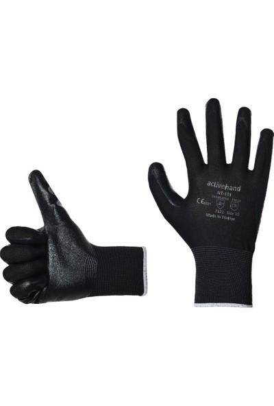 Activehand NT-101 Nitril Kaplı Montaj Eldiveni Siyah 8