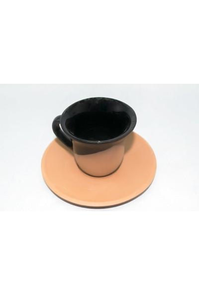 Doğa Çömlekçilik Toprak Kahve Fincanı - Siyah