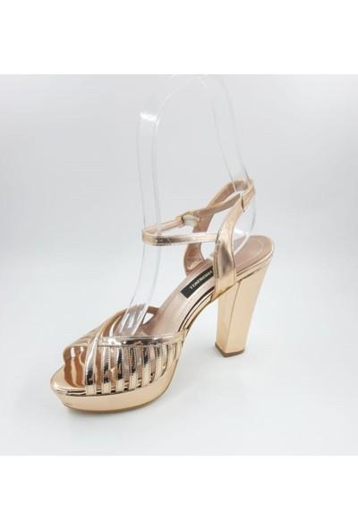 Kriste Bell Abiye Kalın Topuk Platformlu Ayakkabı