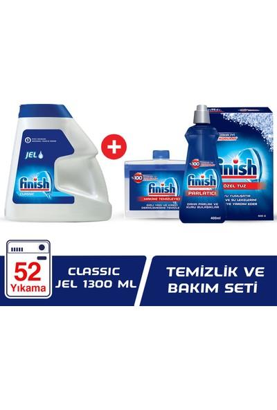 Finish Classic Jel 1300 ml Bulaşık Makinesi Deterjanı + Temizlik ve Bakım Seti