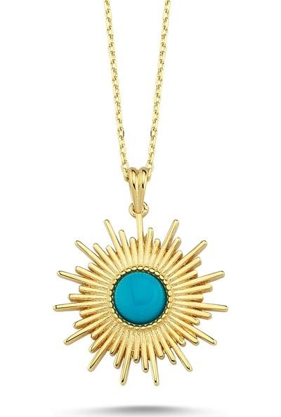 Aypa Mücevher Ag00155Kl-001 Firuze Taşlı Altın Kolye
