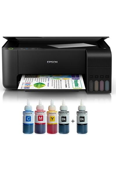 Epson L3150 Tanklı Photoink Mürekkepli Yazıcı 4 Renk Bitmeyen Kartuşlu