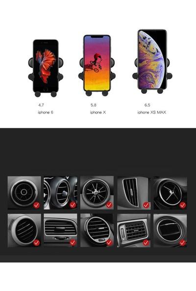 Case 4U Otomatik Kavramalı Ahtapot Araç İçi Telefon Tutucu - Gravity Tutacak - Siyah