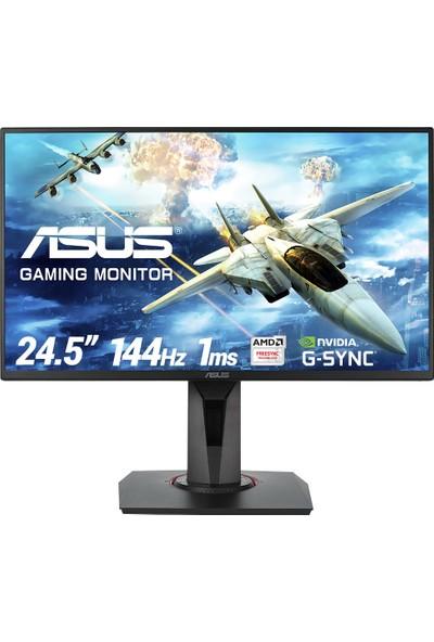"Asus VG258Q 24.5"" 144Hz 1ms (HDMI + Display + DVI-D) FreeSync GSync Full HD TN Oyuncu Monitör"