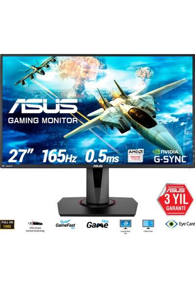 "Asus VG278QR 27"" 165Hz 0.5ms (HDMI + Display + DVI-D) FreeSync/GSync Full HD TN Oyuncu Monitör"