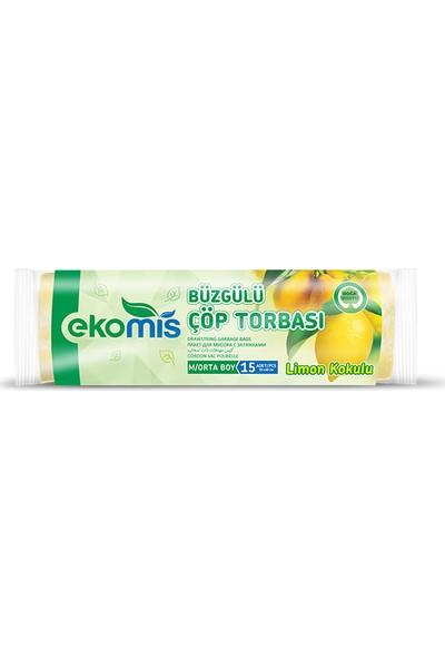 Ekomis Büzgülü Çöp Torbası Çilek,limon,lavanta 3'lü Paket Orta Boy