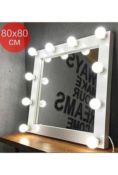Masalina Işıklı Beyaz Cerceveli 80 x 80 cm