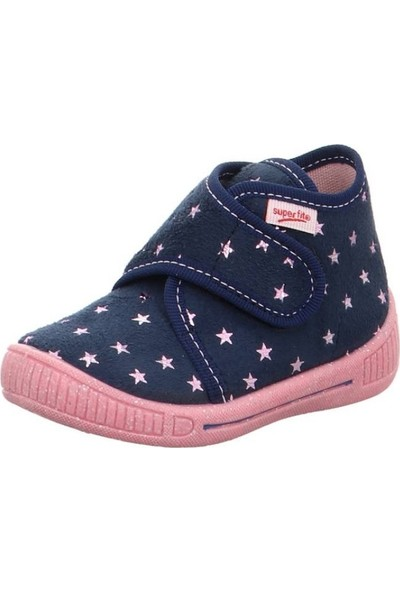 Super Fit Kız Çocuk Ev Ayakkabısı Blau Textil Bully