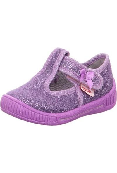 Super Fit Kız Çocuk Kız Ev Ayakkabısı Lila Textil Bully