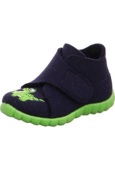 Super Fit Çocuk Ev Ayakkabısı Blau Wollfilz Happy