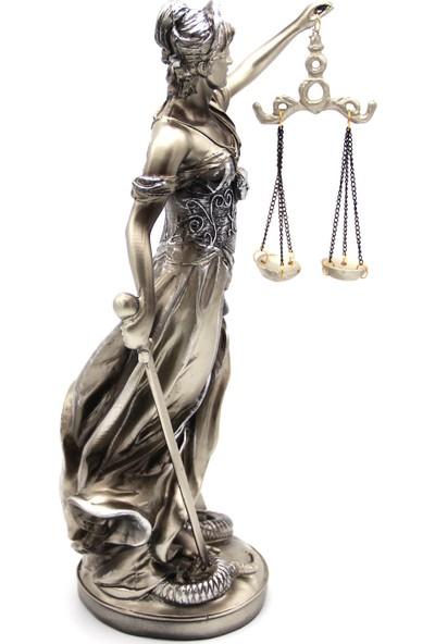 Hediye Biziz Adalet Terazisi Heykeli Themis Biblo Figür Adalet Kadın Büyük Boy