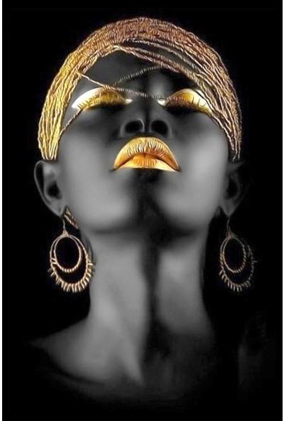 Resmiro Afrika Tasarım Portre Desenli Dijital Baskılı Halı