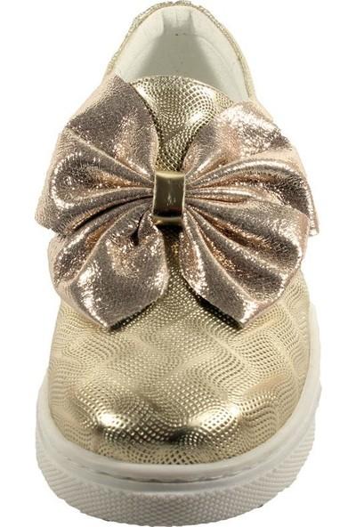Papşin Club 271-120 Gold Baskılı Fiyonklu Kız Çocuk Ayakkabısı