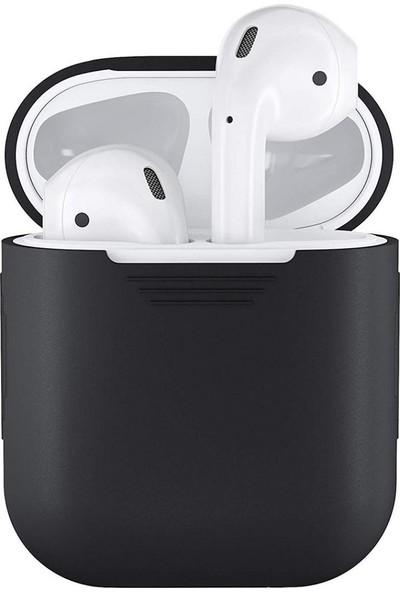 GOB2C Apple AirPods Kulaklık için Koruyucu Kılıf Siyah