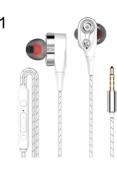 GOB2C Kulak İçi Kulaklık 3.5mm Beyaz