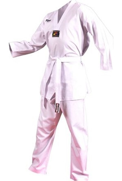 Dragon 10011 Fitilli Beyaz Taekwondo Elbisesi 10011