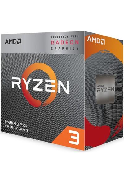 AMD Ryzen 3 3200G 3,6GHz 6MB Cache Soket AM4 İşlemci