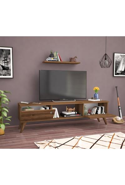 Mbes Mobilya Eda Haliç-Ceviz 140 cm Tv Ünitesi