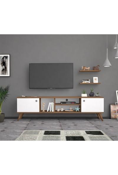 Mbes Mobilya Esin Haliç -BEYAZ160 cm Tv Ünitesi