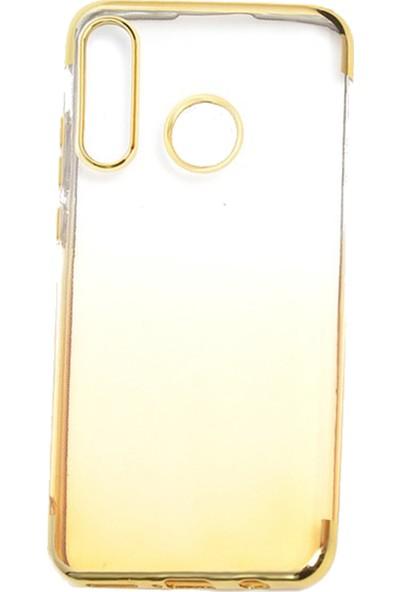 CoverZone Apple iPhone X Kılıf Dört Köşeli Colored Şeffaf Silikon Altın + Temperli Ekran Koruma + Dokunmatik Kalem
