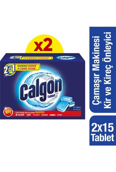 Calgon Çamaşır Makinesi Kireç Önleyici Tablet 15'li x 2 Adet