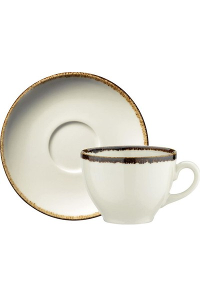 Kütahya Porselen Corendon Bej Jumbo Çay Fincan Takımı 2 li