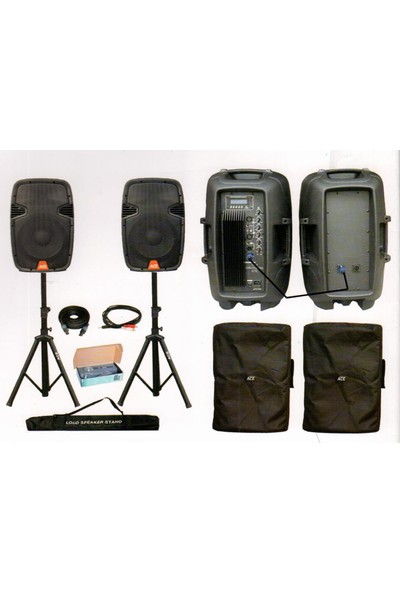 Ace Audio CPQ15C - 600+300 Watt Mikrofon ve Stand Dahil Ses Sistemi