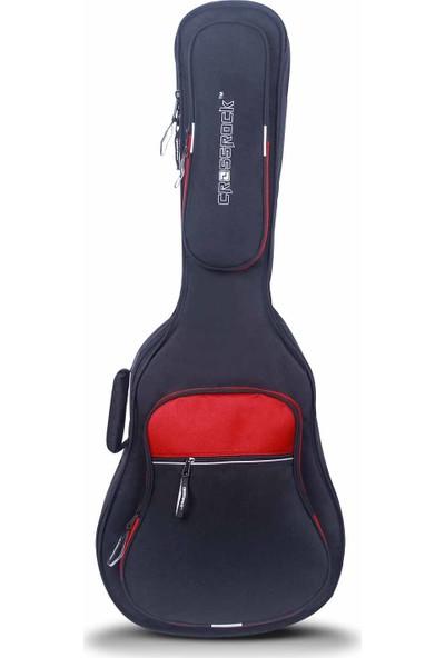 Crossrock Cases CRSG306EBR 30mm Süngerli Elektro Gitar Gig-Bag (Siyah-Kırmızı)