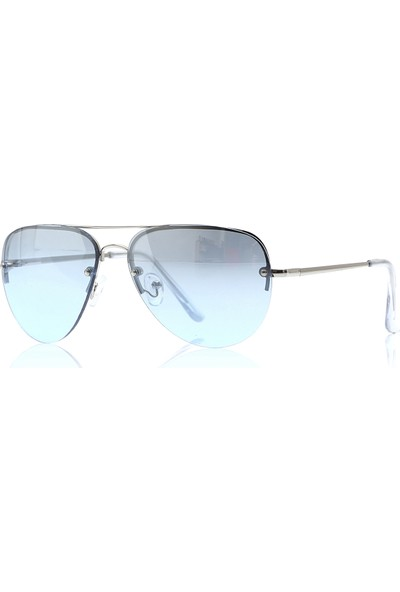 By Harmony Bh EX601 Gümüş Mavi Unisex Güneş Gözlüğü