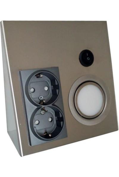Yiğit Tezgah Altı Paslanmaz Inox Metal Pırızlı Spot 3W LED Gunışıgı