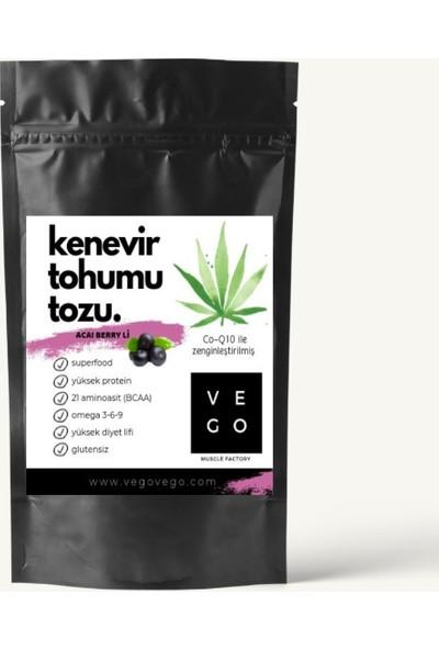 Vegovego Kenevir Protein Tozu Koenzim Q10 Acai Berry li - 100 g
