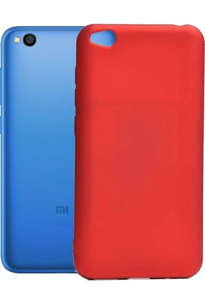 Case 4U Xiaomi Redmi GO Tam Mat Silikon Premier Arka Kapak Kırmızı