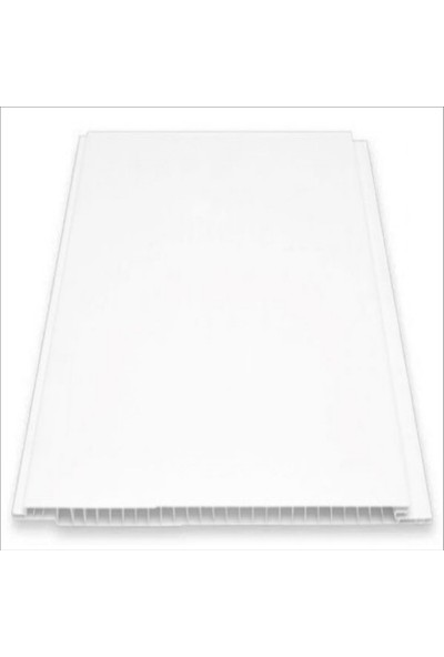 Büker Plastik Beyaz Plastik Pvc Duvar Tavan Lambiri 10'lu 20 cm x 2 m 4 m2